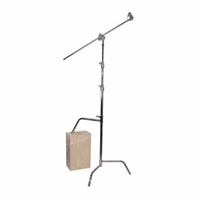 Matthews MD-756040 (MD756040) Hollywood 40-inch Double Riser C-Stand (Silver) with Sliding Leg, Grip Head and Arm