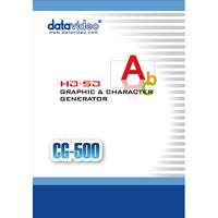 Datavideo DATA-CG500 (DATACG500) CG-500 SD/HD Advanced Timeline Based CG for live/post Production