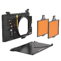 Bright Tangerine Misfit Kit 1 4x5.65 2-Stage Matte Box - includes Top Flag and Mounts, 114mm Clamp Attachment, Two 4x5.65 Trays (p/n B1230.0014)