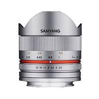 Samyang 8mm f2.8 UMC II Fisheye Lens for Fuji X - Silver (7610)