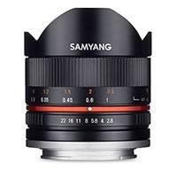 Samyang 8mm f2.8 UMC II Fisheye Lens for Sony E-mount - Black (7611)