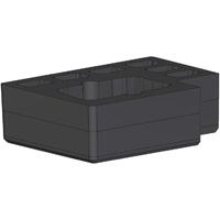 Lemsford FI-VL100/140(6WAY) Foam insert for MR4T and 6 x VL-100/140 batteries for Peli 1550 Case