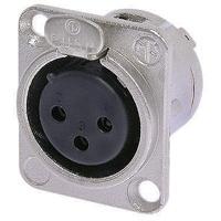 Neutrik NC3FD-L-1 (NC3FDL1) XLR Universal D-size metal body XLR panel mount (Female)