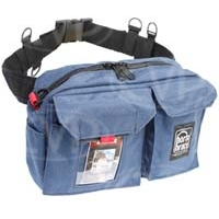 Portabrace BP-1 (BP1) Waist Belt Production Pack for tapes, microphones, mic stands, wide angle lens adapters and more (internal dimensions: 30.48 x 7.62 x 19.05 cm) (blue)