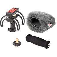Rycote 046025 Zoom H5 Audio Kit including windshield, suspension, shoe adapter and grip handle
