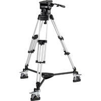 Miller (MIL-2075) Skyline Tripod system Including 70 Fluid Head, Heavy Duty Single Stage Alloy Tripod, Mid Spreader, 2 x Pan Handles, Studio Dolly, 1 Set of Feet, mounting Bracket and Adapter