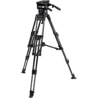 Miller (2060) Skyline Tripod System including 70 Fluid Head, Heavy Duty 2 Stage Carbon Fiber Tripod, Mid Spreader, 2 x Pan Handles and 1 Set of Rubber Feet
