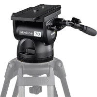 Miller (MIL-1050) Skyline 70 Fluid Tripod Head with Ball Leveling and Quick Release Plate