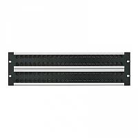 Canford Audio 48-4353 (484353) 3U 4x24 MUSA HD Patch Panel AES Audio Jackfield - Black
