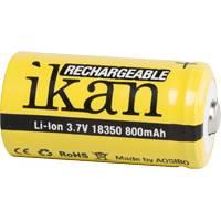 Ikan IB-18350-8 (IB183508) Rechargable Li-Ion Battery - 18350, 3.7V, 800mah
