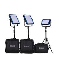 Dracast ENG Plus Kit - 2x LED1000Plus and 1x LED500Plus Heads with Stands - with Battery Plates and Soft Cases (DRPL-ENG)