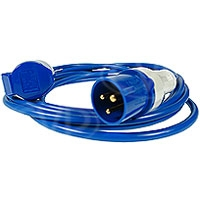 CVP 5 Metre Cable with a 16 Amp BS4343 Plug and Socket