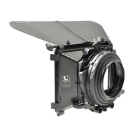 Chrosziel 415-02F110 (41502F110) Compact MatteBox 4:3 +16:9 F4.5 - includes French Flag, 2 Filterholders, Bracket for 15mm LWS rods + Ret. Ring 110mm