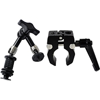 Rotolight RL-ARM-6-KIT (RLARM6KIT) 6 inch Articulated Magic Arm with SuperClamp Kit includes Ballhead and Shoe Adapter