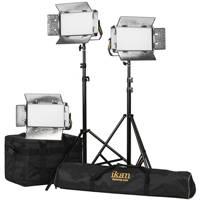 Ikan LB5-3PT-KIT (LB53PTKIT) Lyra Bi-Colour Soft Panel Half x1 Studio & Field LED 3 Light Kit with Gold & V-Mount Battery Plate