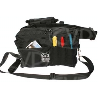 Portabrace BP-2B (BP2B) Waist Belt Production Pack for flat batteries, tapes, microphones, mic stands, wide angle lens adapters and more (black)