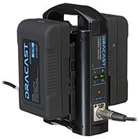 Dracast V-Mount Battery Kit - 2x 90Wh Batteries and Dual Battery Charger x1 (BK-2x90S-1xCH2V)