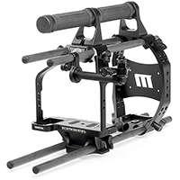 Redrock Micro ultraCage Black Studio Bundle for DSLR Cameras, 15mm Rail Version (p/n 8-113-0001)