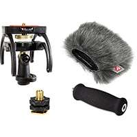 Rycote 046007 Tascam DR-2D - Audio Kit including windshield, suspension, shoe adapter and grip handle