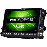 Sound Devices PIX-E5 (PIXE5) Portable 5-inch 4K Recorder/Monitor With Touch Control, 3G-SDI/HDMI Input and Output, Supports Apple ProRes 4444 XQ