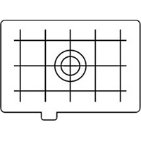 Canon EC-D (ECD) Matte Camera Focusing Screen with grid lines - Type D (Canon p/n 4723A001AA)
