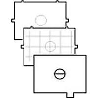 Canon EC-A (ECA) Microprism Camera Focusing Screen - Type A (Canon p/n 4720A001AA)