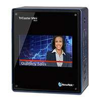 NewTek Tricaster Mini HD-4i Multi-Standard with integrated display and x2 internal drives - 45 Hours of Storage