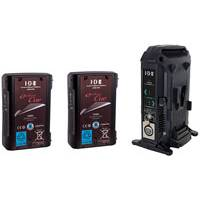 IDX EC-75/2X (EC752X) 2x ENDURA CUE-D75 Batteries and 1x VL-2X Charger with AC Adaptor (36W)
