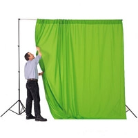 Lastolite LL LC5781 (LLLC5781) Chromakey Curtain 3 x 3.5M (10ft x 12ft) Green Screen