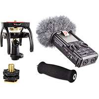 Rycote 046011 Roland R-26 Audio Kit including windshield, suspension, shoe adapter and grip handle