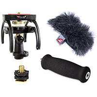 Rycote 046005 Marantz PMD 661 Audio Kit including windshield, suspension, shoe adapter and grip handle