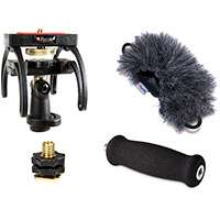Rycote 046019 Edirol R09 Audio Kit including windshield, suspension, shoe adapter and grip handle