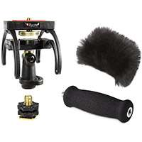 Rycote 046014 Olympus LS-03 Audio Kit including windshield, suspension, shoe adapter and grip handle