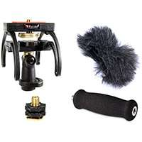 Rycote 046012 Marantz PMD620 and Tascam DR1 Audio Kit including windshield, suspension, shoe adapter and grip handle