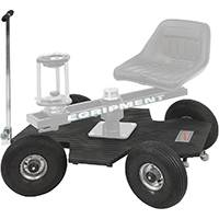 Egripment DINKY DOLLY - Portable 4 Wheel Steering Dolly with Pneumatic Wheels and Push/Pull Bar (Seat, Support and Camera Leveller Not Included)