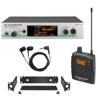 Sennheiser EW-300-IEM-G3 (EW300IEMG3) Wireless In Ear Monitoring System includes Transmitter, Receiver, Earphones, Rackmount and Power Supply Unit (Channel 38)