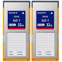 Sony 2SBS32G1B (2SBS-32G-1B) 32GB SxS-1 G1B Memory Card Twin Pack, with up to 440MBs Read Speeds, Compatible with XDCAM EX Series Video Cameras