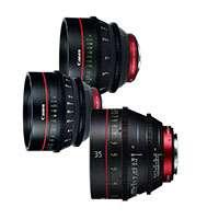 Canon CN-E EF mount prime lens bundle with Peli Case including 35, 50, and 85mm 4K digital cinema lenses CN-E24mm, CN-E50mm, CN-E85mm (9139B010AA)