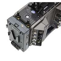 Hawk-Woods VL-CFA2 (VLCFA2) V-Lok Power Amira Camera fitting with 3 x Power-Con (D-Tap) outputs and 1 x 2 pin 12V Lemo outputs