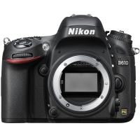 Nikon D610 24.3 MP Digital SLR with FX-Format CMOS Sensor Body Only (p/n VBA430AE)