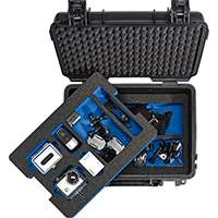 B&W Type3000 Twin Layered Dust and Waterproof Hard Case with Moulded Foam Inserts for your GoPro Camera and a Selection of Accessories (Black)