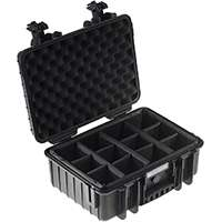 B&W Type4000 Dust and Waterproof Hard Case with Padded Dividers with Space for 1x DSLR, 2x Lenses and Standard Accessories (Available in Black or Yellow)