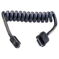 Atomos Coiled Micro HDMI (Die Cast Metal) to HDMI Full Cable 30cm (60cm Extended) (AO-ATOM4K60C1)