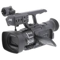 Pre Owned JVC GY-HM100E (GYHM100E, GY-HM100) ProHD solid state handheld 3-CCD camcorder with 35Mbps recording