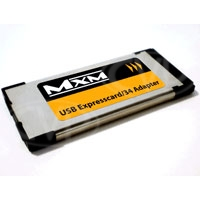 MxM Expresscard/34 c/w case - Allows use of SDHC Class 6 cards as SxS in PMW-EX series camcorders (over-cranking not supported)