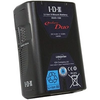IDX Endura DUO-150 (DUO150) 14.8V / 146Wh High Load Sony V-Mount Rechargeable Lithium Ion Battery with 2 x D Tap and USB Output