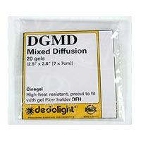 Dedolight DGMD Gel Filter Set Mixed Diffusion fits the DFH filter holder (classic Dedolight) 20 Gels