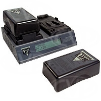 PowerLok PLV-C2 (PLVC2) Dual Channel Li-Ion V-Mount Battery Charger with Digital Display
