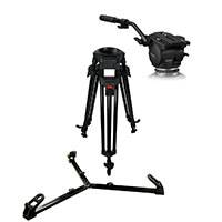 Cartoni KF12-2UG Focus 12 Two-Stage Ultra Lightweight ENG System - T627/2 Tripod 100mm Bowl and Ground Level Spreader and HF1200 Fluid Head plus Accessories (KF122UG)