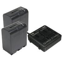 JVC IDX-JP2-E (IDXJP2E) Power Pack includes LC-2J Charger and 2x SSL-JVC75 IDX Li-Ion Batteries